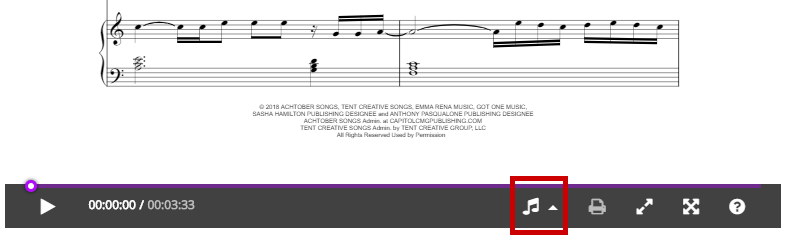 How to check sheet music transposition